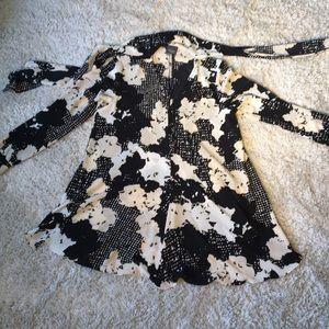 Marina Rinaldi Flowy Dress with Neck Bow / Tie